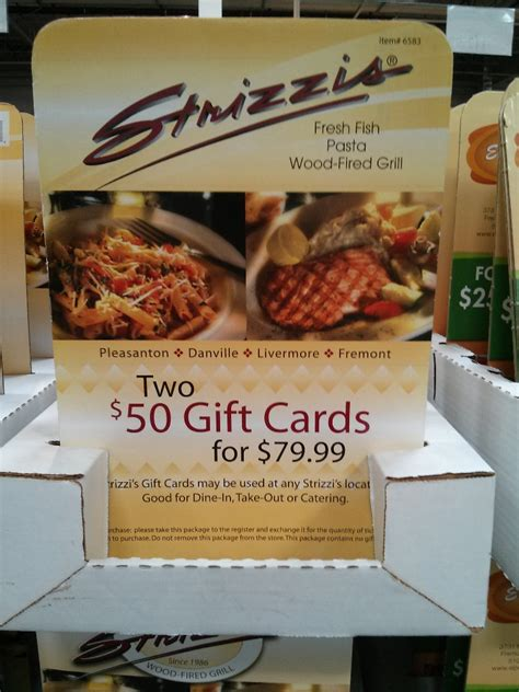 Where To Get Costco Gift Cards - massimo s spin a yarn steakhouse strizzi s discount gift cards