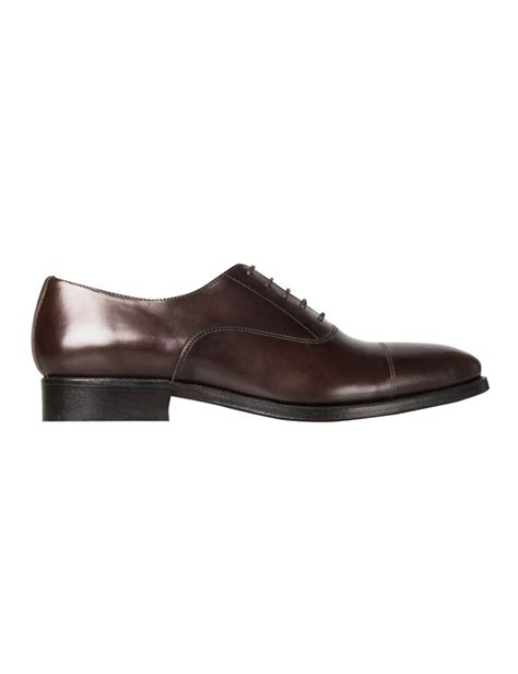 hudson oxford shoes s brown leather hudson oxford toe cap shoe hawes