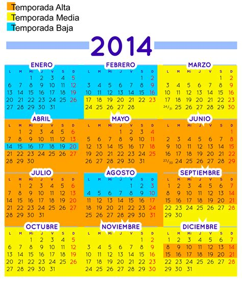 Calendario Temporada Calendario De Temporada La Tramoya