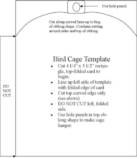 daily cage card template tickell expressions template bird cage card