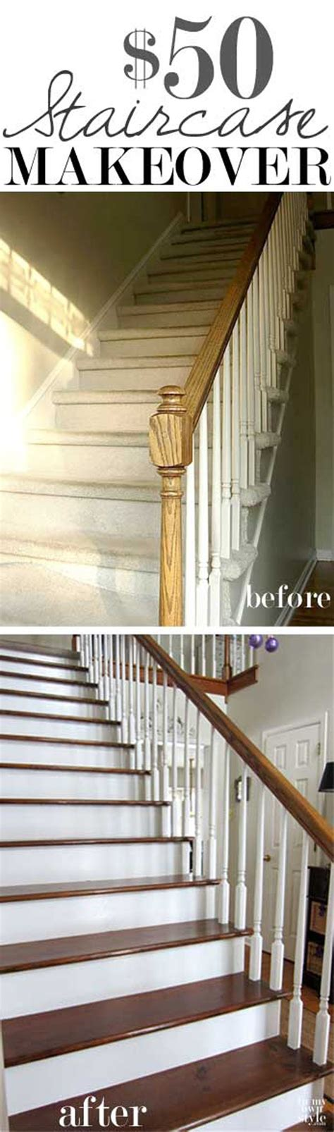 Staircase Makeover Ideas Easy Diy Home Improvement Projects Diy Ready