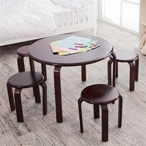 Children S Dining Table Wooden Table And Chairs For Homesfeed