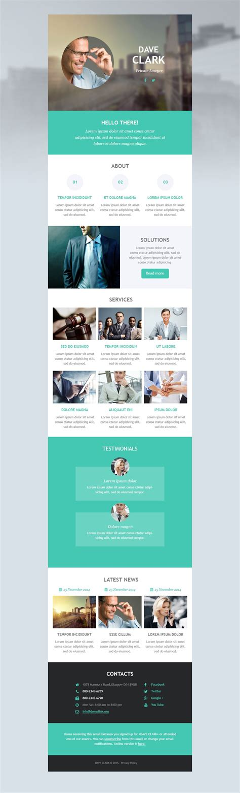Newsletter Template Vorlage lawyer responsive newsletter template 53099