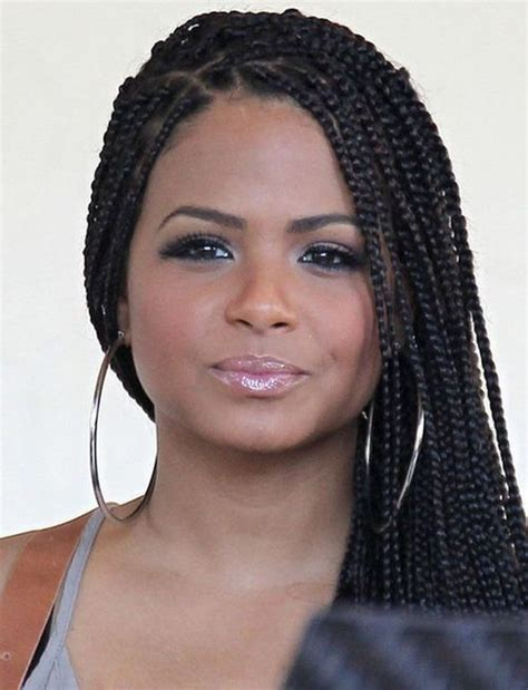 tweens box braids hairstyles with color christina milian with box braids senegalese twist