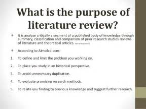 what is the purpose of a template review of related literature presentation