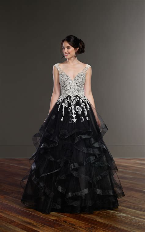 Schwarzes Brautkleid by Wedding Gowns Black Princess Wedding Dress Martina Liana
