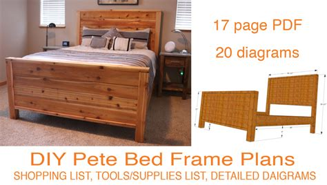 diy bed plans diy bed frame plans how to make a bed frame with diy pete