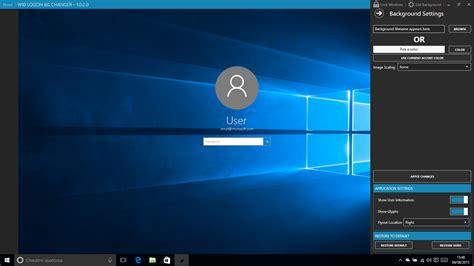 personalizzare la schermata  blocco   login