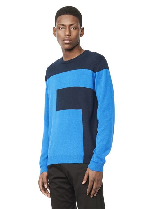 Lq 12 Blouse logo intarsia sweater top wang official site