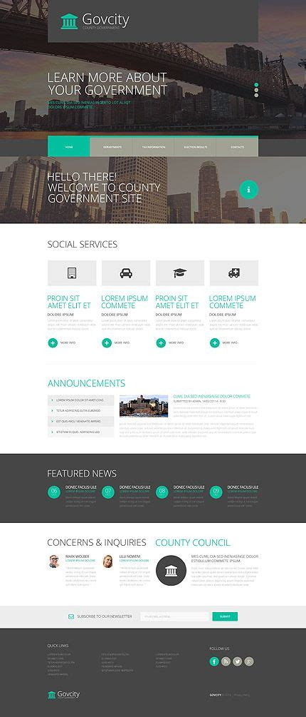 bootstrap themes official 17 best ideas about government website on pinterest