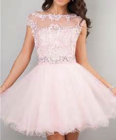 2015 cute short prom dresses pink high neck beaded