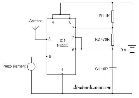 radio transmitter integrated circuit using 555 as fm transmitter circuit diagram electronic circuits diagram
