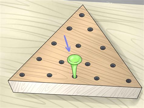 pattern for triangle peg game how to win the peg game 10 steps with pictures wikihow