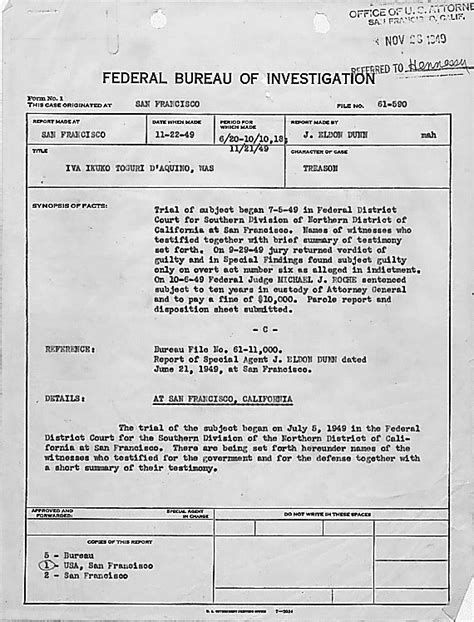 File Fbi File Of Iva Ikuko Toguri D Aquino Jpg Wikimedia Commons Fbi Dossier Template