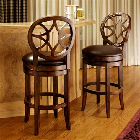 Brown Leather Bar Stool Brown Leather Swivel Bar Stools Elon 24 Swivel Barstool