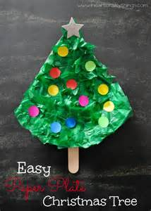 easy paper plate christmas tree craft i heart crafty things