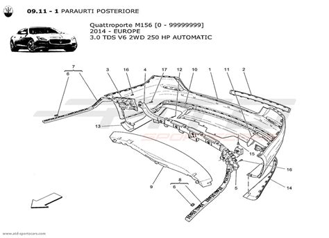 Maserati Quattroporte Parts by Maserati Quattroporte Parts Diagram Maserati Auto Parts