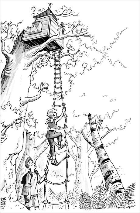 treehouse coloring pages magic of tree house colouring pages