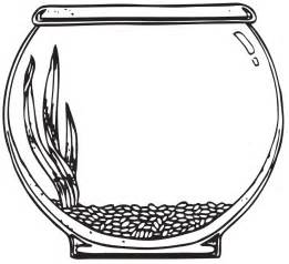 fishbowl template empty fish bowl coloring page clipart best