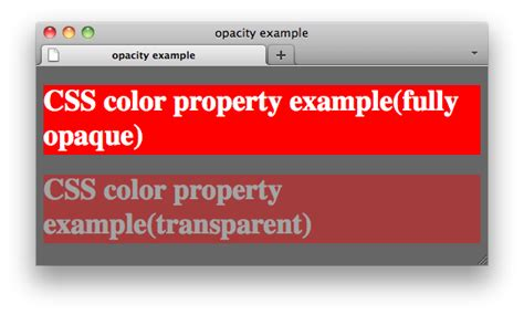 css background color transparent css properties opacity w3c wiki