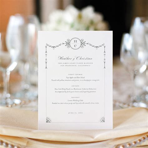 how to make wedding menu cards best wedding menu cards from real celebrations martha