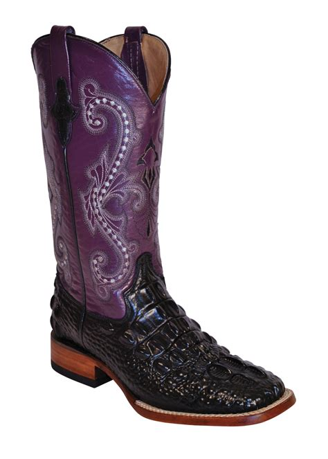boots purple ferrini black purple print hornback caiman boots s