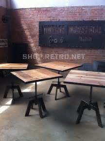 Cafe Dining Tables Industrial Adjustable Cafe Dining Table Eclectic Dining Tables