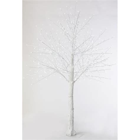 martha stewart living 8 ft pre lit led snowy white