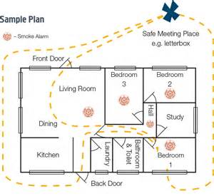 Home Escape Plan Template by Sle Evacuation Plan For Homes Home Plan
