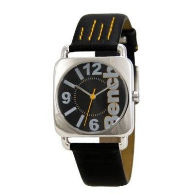 bench watch strap bench ladies black sunray dial watch with black strap