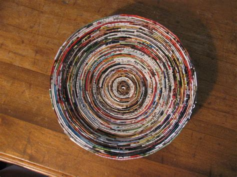 How To Make Paper Bowls From Magazines - tutorial coiled magazine paper bowls frugal upstate