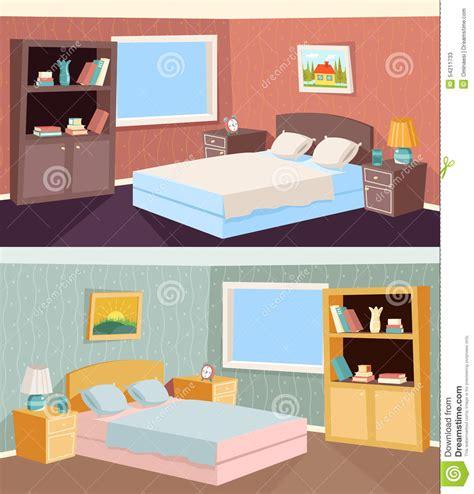 Floor Plan 2 Bedroom Apartment by Cartoon Bedroom Apartment Livingroom Interior Stock Vector