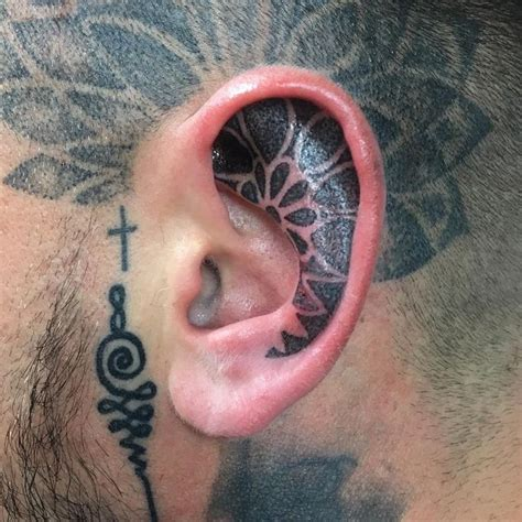 behind the ear tattoos pain best 20 inner ear ideas on ear tattoos