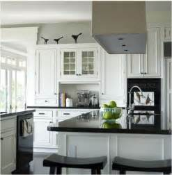 White Or Black Kitchen Cabinets Decorating With Black Amp White Centsational Girl
