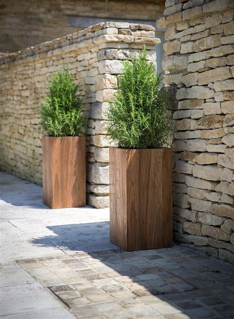 Tall Garden Planter Made From Reclaimed Teak Hardwearing How To Make Planters