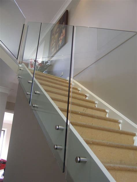 glass banisters for stairs 25 best ideas about glass stair railing on pinterest