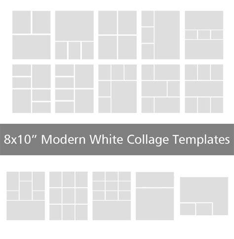 8x10 modern white collage templates discovery center store