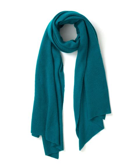 ca teal pashmina scarf in blue lyst