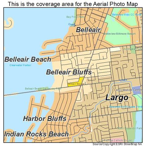 belleair bluffs florida map aerial photography map of belleair bluffs fl florida