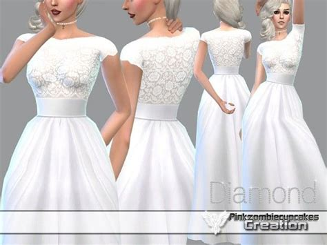 Cc Dress the sims resource wedding gown by