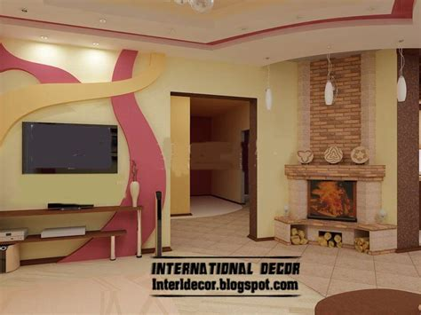 interior design on wall at home modern gypsum board wall interior designs and decorative