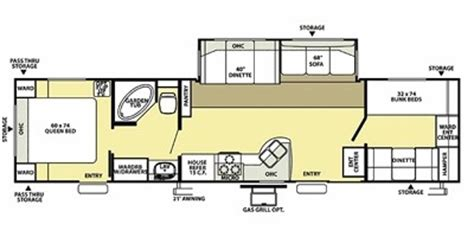 salem rv floor plans 2008 forest river salem le 36bhss trailer reviews