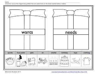 kindergarten activities needs and wants charlotte s clips and kindergarten kids wants and needs