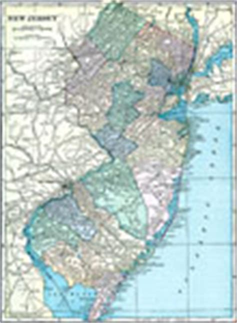 physical map of new jersey maps of new jersey