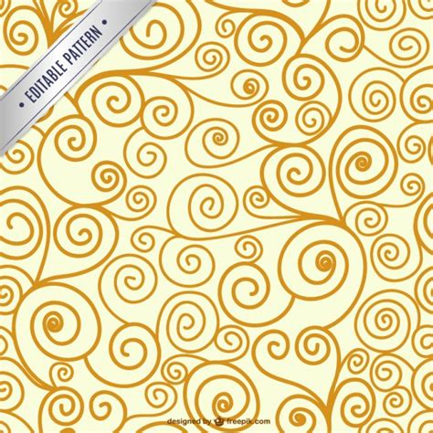 pattern swirl vector editable swirl seamless pattern vector free download