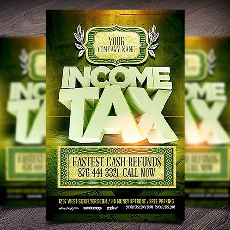 Income Tax Flyers Templates Free business print templates restaurant menu templates