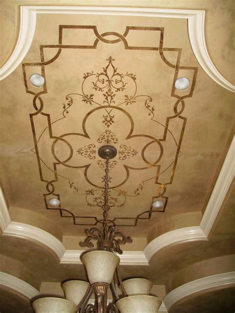 33 Glamorous Bedroom Design Ideas Tray Ceilings Pinterest | giovannetti decorative studio metallic plaster ceiling