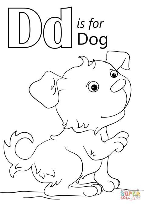 d coloring pages for kindergarten letter d is for dog coloring page free printable