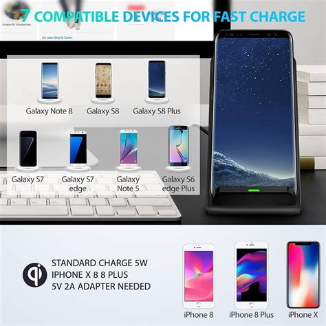 10w wireless caricatore veloce ricarica station per iphone xs max xr ebay