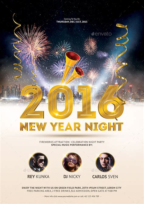 new year templates 2016 new year 2016 flyer template by bornx graphicriver